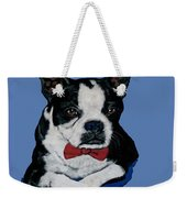 Boston Terrier With A Bowtie Weekender Tote Bag