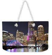 Boston Waterfront Weekender Tote Bag