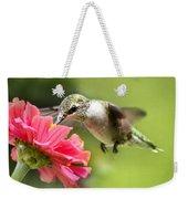 Botanical Hummingbird Weekender Tote Bag