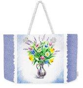 Botanical Impressionism Watercolor Bouquet Weekender Tote Bag