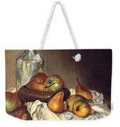Bottle And Pears Weekender Tote Bag