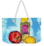 Bottle Apple And Lemon Weekender Tote Bag
