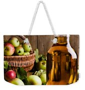 Bottled Cider With Apples Weekender Tote Bag