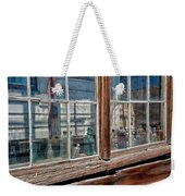 Bottles In The Window Weekender Tote Bag by Cat Connor