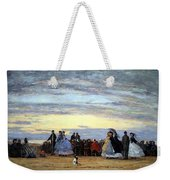 Boudin's The Beach At Villerville Weekender Tote Bag