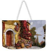 Bouganville Weekender Tote Bag by Guido Borelli