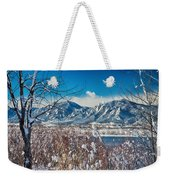Boulder Colorado Winter Season Scenic View Weekender Tote Bag