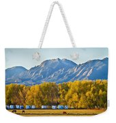 Boulder County Colorado Flatirons Autumn View Weekender Tote Bag