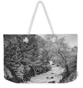 Boulder Creek Winter Wonderland Black And White Weekender Tote Bag