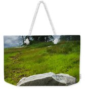 Boulder On The Shore At The Mount Desert Narrows In Maine Weekender Tote Bag