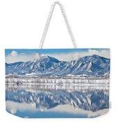 Boulder Reservoir Flatirons Reflections Boulder Colorado Weekender Tote Bag