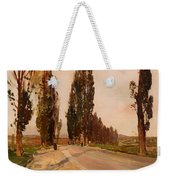 Boulevard Of Poplars Near Plankenberg Weekender Tote Bag