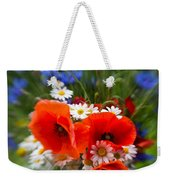Bouquet Of Fresh Poppies Camomiles And Cornflowers Weekender Tote Bag