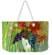 Bouquet In A White Vase Weekender Tote Bag