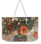 Bouquet Of Flowers In A Vase Weekender Tote Bag by Odilon Redon