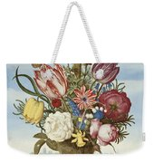 Bouquet Of Flowers On A Ledge Weekender Tote Bag