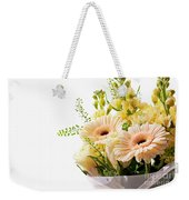 Bouquet Of Flowers On White Background Weekender Tote Bag