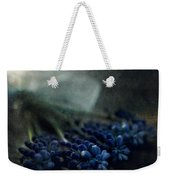 Bouquet Of Grape Hyiacints On The Dark Textured Surface Weekender Tote Bag