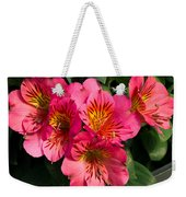 Bouquet Of Pink Lily Flowers Weekender Tote Bag