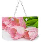 Bouquet Of Pink Tulips. Weekender Tote Bag