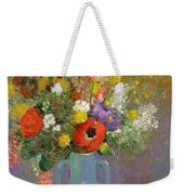 Bouquet Of Wild Flowers  Weekender Tote Bag by Odilon Redon