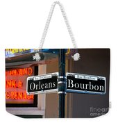 Bourbon And Orleans Weekender Tote Bag