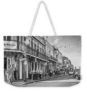 Bourbon Street Afternoon - Paint Bw Weekender Tote Bag