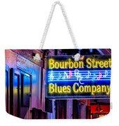 Bourbon Street Blues Weekender Tote Bag