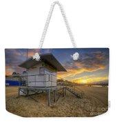 Bournemouth Beach Sunrise Weekender Tote Bag