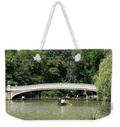 Bow Bridge And Row Boats Weekender Tote Bag