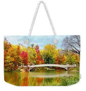 Bow Bridge Autumn In Central Park  Weekender Tote Bag
