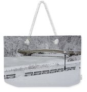 Bow Bridge Central Park Winter Wonderland Weekender Tote Bag
