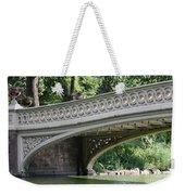 Bow Bridge Texture - Nyc Weekender Tote Bag