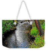 Bow River Near Lake Louise Campground In Banff National Park-ab Weekender Tote Bag