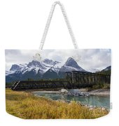 Bow River Railroad Trestle Weekender Tote Bag