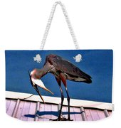 Bowing Blue Heron Weekender Tote Bag