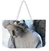 Bowing Male Angel With Blue Sky And Clouds Weekender Tote Bag