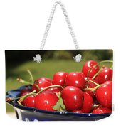Bowl Of Cherries In The Garden Weekender Tote Bag