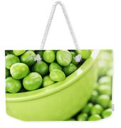 Bowl Of Green Peas Weekender Tote Bag by Elena Elisseeva