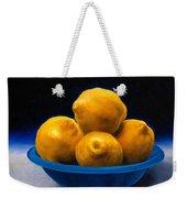 Bowl Of Lemons Weekender Tote Bag