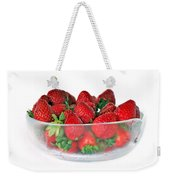 Bowl Of Strawberries Weekender Tote Bag