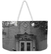 Bowling Green Subway Time In Black And White Weekender Tote Bag