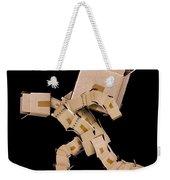 Box Character Carrying Large Box Weekender Tote Bag