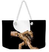 Box Character Carrying Light Bulb Weekender Tote Bag
