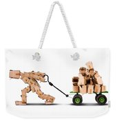 Box Character Moving Boxes On Trolley Weekender Tote Bag