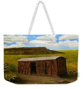 Boxcar On The Plains Weekender Tote Bag