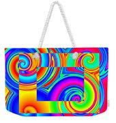 Boxed Rainbow Swirls 1 Weekender Tote Bag