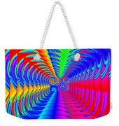 Boxed Rainbow Swirls 2 Weekender Tote Bag