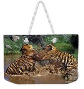 Boxing Bengal Tigers Wildlife Rescue Weekender Tote Bag