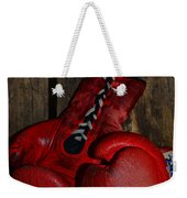 Boxing Gloves Worn Out Weekender Tote Bag by Paul Ward